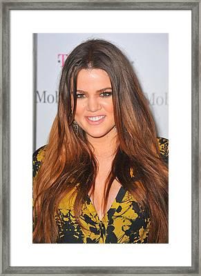 Khloe Kardashian At Arrivals Framed Print