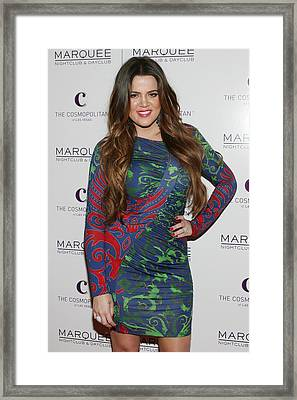 Khloe Kardashian At Arrivals For Kim Framed Print by Everett