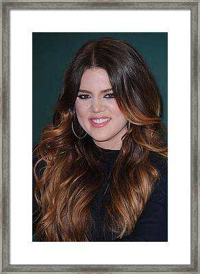 Khloe Kardashian At In-store Appearance Framed Print