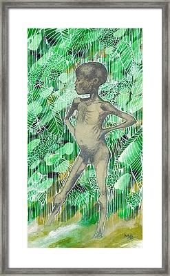 Kid Framed Print by Agenor  Marti