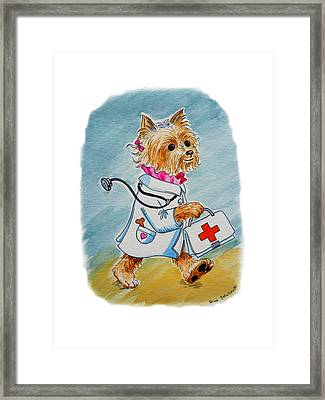 Kids Art Dogtor Framed Print