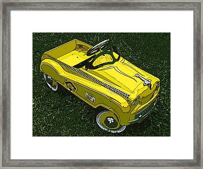 Kid's Pedal Car Taxi Framed Print by Samuel Sheats