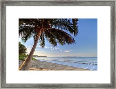 Kihei Maui Hawaii Sunrise Coconut Palm  Framed Print by Dustin K Ryan