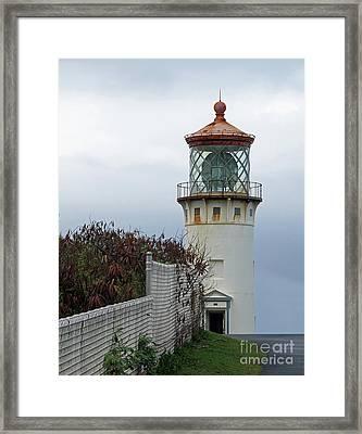 Kilauea Lighthouse  Kauai Framed Print by Louise Peardon