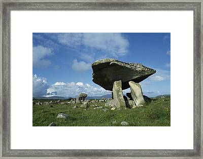 Kilclooney, Co Donegal, Ireland Dolmen Framed Print by The Irish Image Collection
