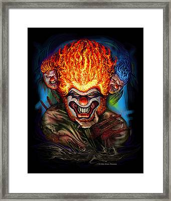 Killer Clowns Framed Print