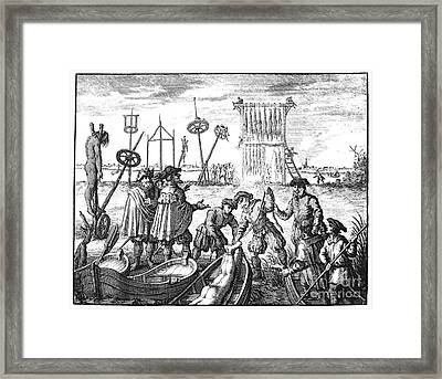 Killing Of Anabaptists Framed Print by Granger