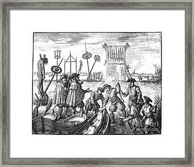 Killing Of Anabaptists Framed Print