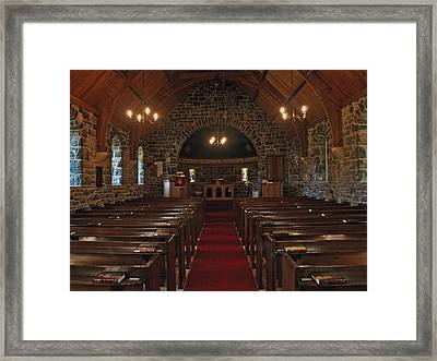 Kilmore Church Dervaig Framed Print