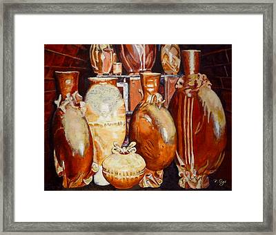 Kiln Party Framed Print by Brian Ogi