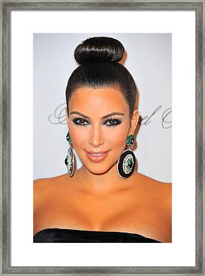 Kim Kardashian At Arrivals For The Framed Print