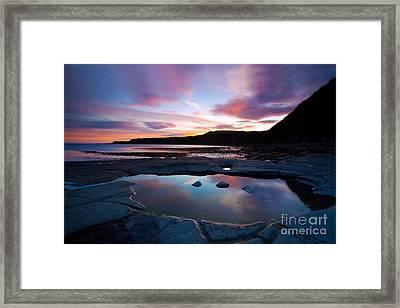Kimmeridge Colours Framed Print by Jan Allen