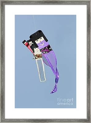 Kimono Dolls Framed Print by David Lade