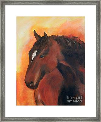 Kind And Gentle Framed Print by Barbara Cornelius