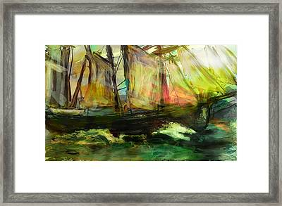 Kind Of Abstract Sea Framed Print