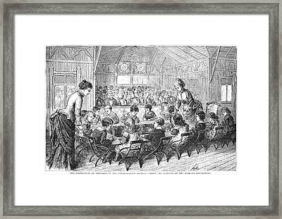 Kindergarten, 1876 Framed Print by Granger