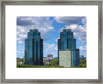 King And Queen Buildings Framed Print by Anna Rumiantseva