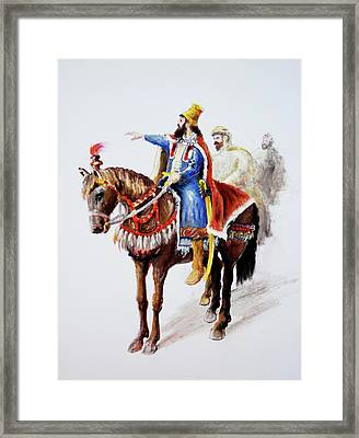 King Astyages Framed Print by Ron Cantrell