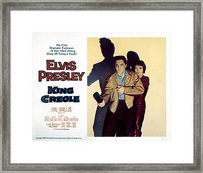 King Creole, Elvis Presley, Carolyn Framed Print by Everett