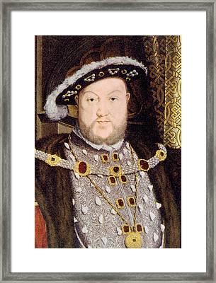 King Henry Viii 1491-1547, King Framed Print by Everett