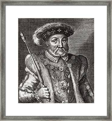 King Henry Viii Of England Framed Print