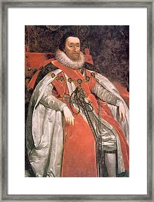 King James I 1566-1625, Ruled England Framed Print