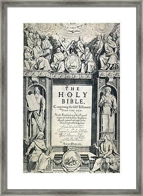 King James I Bible, 1611 Framed Print by Granger