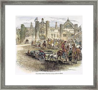 King James I On Hunt Framed Print