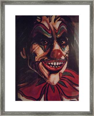 Framed Print featuring the painting King Klown by James Guentner