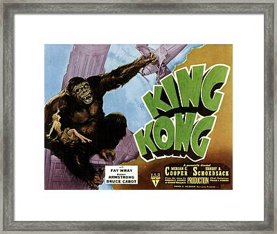 King Kong, 1933 Rko Re-issue Poster Framed Print by Everett