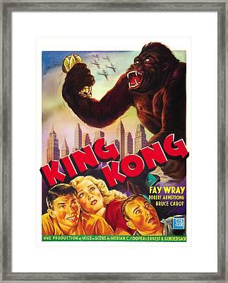 King Kong, Bottom Left, From Left Bruce Framed Print by Everett