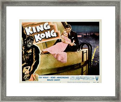 King Kong, Fay Wray, Bruce Cabot, 1933 Framed Print by Everett