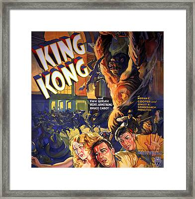 King Kong, Fay Wray, Robert Armstrong Framed Print by Everett