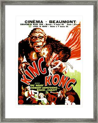 King Kong, French Poster Art, 1933 Framed Print by Everett