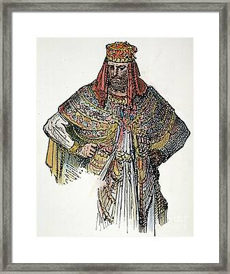 King Nebuchadnezzar II Framed Print by Granger