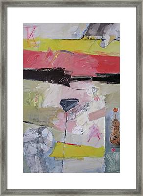 Framed Print featuring the mixed media King Of Diamonds 10-52 by Cliff Spohn