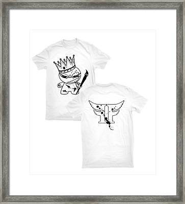 King Of Emagee Nation Tee Framed Print by Joseph Boyd