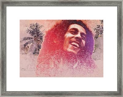 King Of Reggae Framed Print