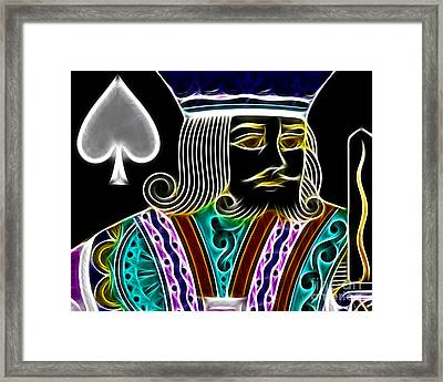 King Of Spades - V4 Framed Print by Wingsdomain Art and Photography