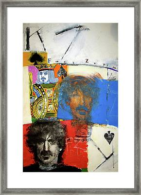 Framed Print featuring the mixed media King Of Spades 48-52 by Cliff Spohn