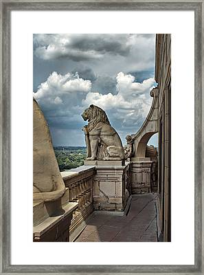 King Of The Beasts In The Land Of The Braves Framed Print by Farol Tomson