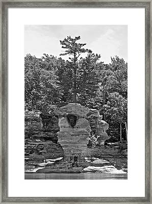 King Of The Hill Pictured Rocks Framed Print by Michael Peychich