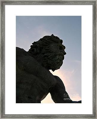 Framed Print featuring the photograph King Of The Sea II by Nancy Dole McGuigan