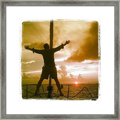 King Of The World? Framed Print