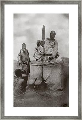 King Of Uganda Back Center Framed Print by Everett
