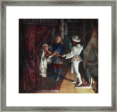 King Rene's Book Of Love, 15th Century Framed Print by