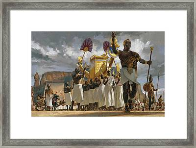 King Taharqa Leads His Queens Framed Print by Gregory Manchess