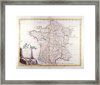 Kingdom Of France Divided Into Its Governments Framed Print by Fototeca Storica Nazionale