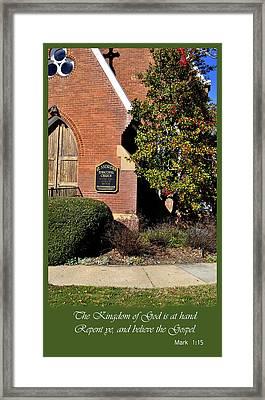 Kingdom Of God Framed Print by Larry Bishop
