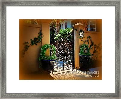 Kings Street 65 In Charleston Sc Framed Print by Susanne Van Hulst